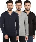 Mens Henley Neck T-Shirts