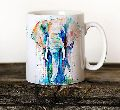 Elephant Print Coffee Mug