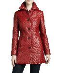 Leather Ladies Trench Coat