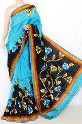 Hand Printed Silk Sarees