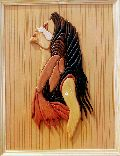Lady Wall Wooden Paintings