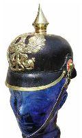 Leather Pickelhaube Helmet