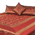 Designer Bed Covers - Maroon Silk