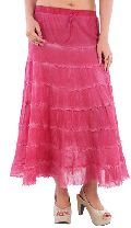 F842fuschia Ladies Skirts