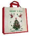 Jute Christmas Shopping Bag