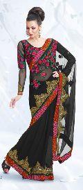 Black Chiffon Saree with Blouse