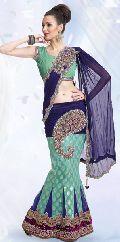 Brocade Lehenga Style Saree with Blouse