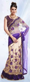 Satin Lehenga Style Saree with Blouse