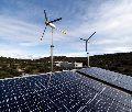 Hybrid Solar Power Plant Installation