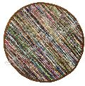 Cotton Chindi Round Rug