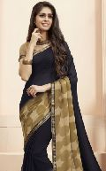 Sbw9125-Mn Subhash Tumhari Sulu Designer Blue Georgette Saree