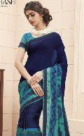 Sbw9128-Mn Subhash Tumhari Sulu Designer Blue Georgette Saree