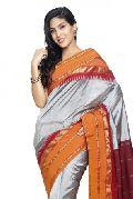 Slv50-Mn Sudarshan New Kanchipuram Silver Silk Saree