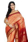 Slv85-Mn Sudarshan New Kanchipuram Pink Silk Saree