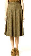 Check Knee Length Skirt