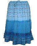 Ombre Blue Knee Length Skirt