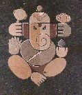 Lord Ganesha Sand Painting