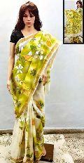 Handpainted Soft Cotton Saree