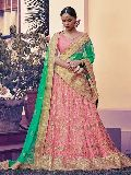 Anchorite Pink Net Lehenga Choli