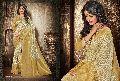 Attractive Beige Jacquard Silk Designer Saree