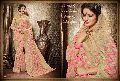 Captivating Cream Jacquard Silk Saree