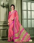 Classical Baby Pink French Crepe Saree