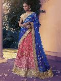 Crafty Hot Pink Net Lehenga Choli