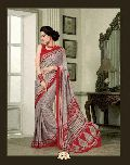 Dilettante Grey French Crepe Saree