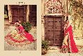 Magnetic Red Georgettes On Net Saree