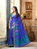 Princely Blue Tussar Silk Saree
