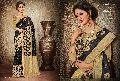 Provenance Black Jacquard Silk Saree