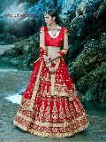 Sensual Red Fancy Net Designer Lehenga Choli
