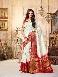 Topnotch Off White Tussar Silk Saree