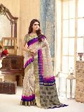 Vivid Multi Color Tussar Silk Saree