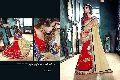 Wise Red Georgette On Fancy Net Designer Saree