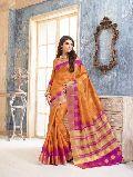 Wonderous Rust Tussar Silk Saree