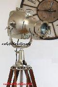 1940's Hollywood Studio Tripod Lamp Hand Made Replica Titanic Ship Light