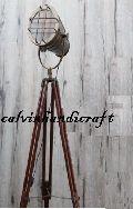 INDUSTRIAL DESIGNER CHROME DECOR SPOT LIGHT TRIPOD FLOOR LAMP