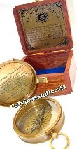 mini compass nautical brass compass with wooden box