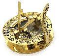nautical brass sundial marine compass