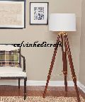 Tripod FLOOR LAMP LIGHT Marine Brass Tripod Old Style Floor Lamp