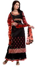 Partywear Designer Embroidered Salwar Suit