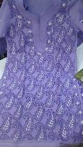 Embroidered chikan kurti