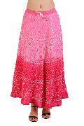 Indian Bandhej Tie Dye Skirt