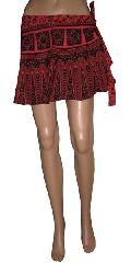 Cotton Mini Wrap Around Skirt