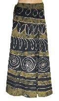 Batik Printed Long Cotton Wrap Skirt
