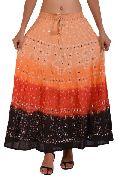 Indian Cotton Bandhej Skirt