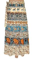 Indian Ladies Jaipuri Print Cotton Wrap Around Skirt