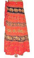 Rajasthani Printed Long Wrap Skirt