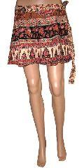 Rajasthani Print Mini Wrap Skirt